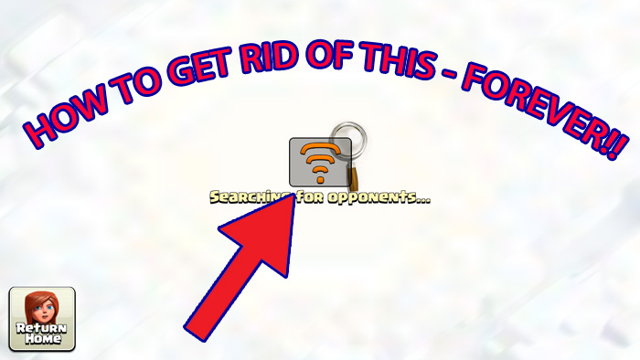GET RID OF THE UNSTABLE WIFI ICON IN CLASH OF CLANS & CLASH ROYALE